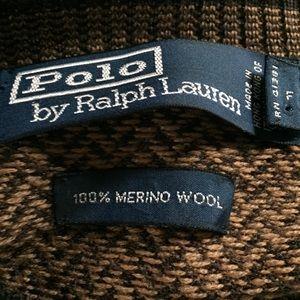 Polo by Ralph Lauren Sweaters - Polo Ralph Lauren Chevron V-Neck Wool Sweater
